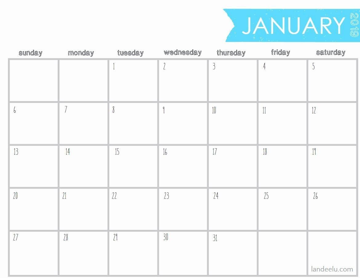 Printable Calendar 5 X 7 In 2020 | Calendar Printables, Free