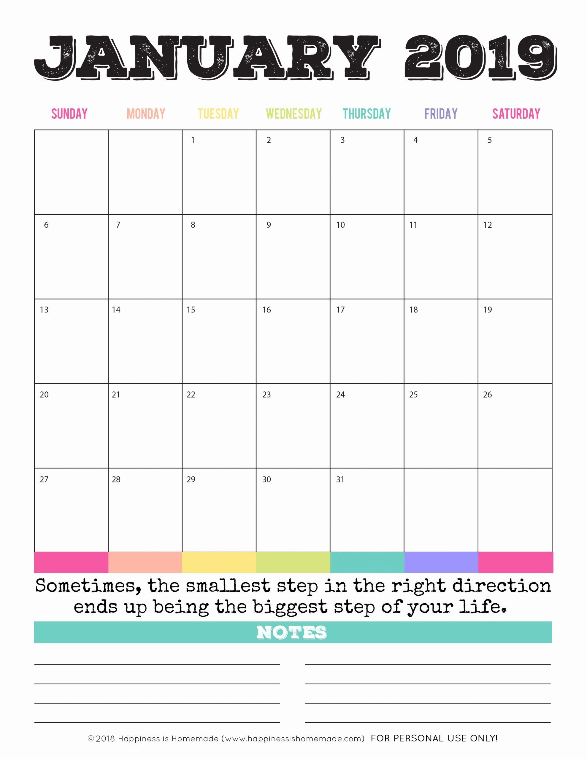 Printable Calendar 5 X 7 In 2020 | Free Monthly Calendar