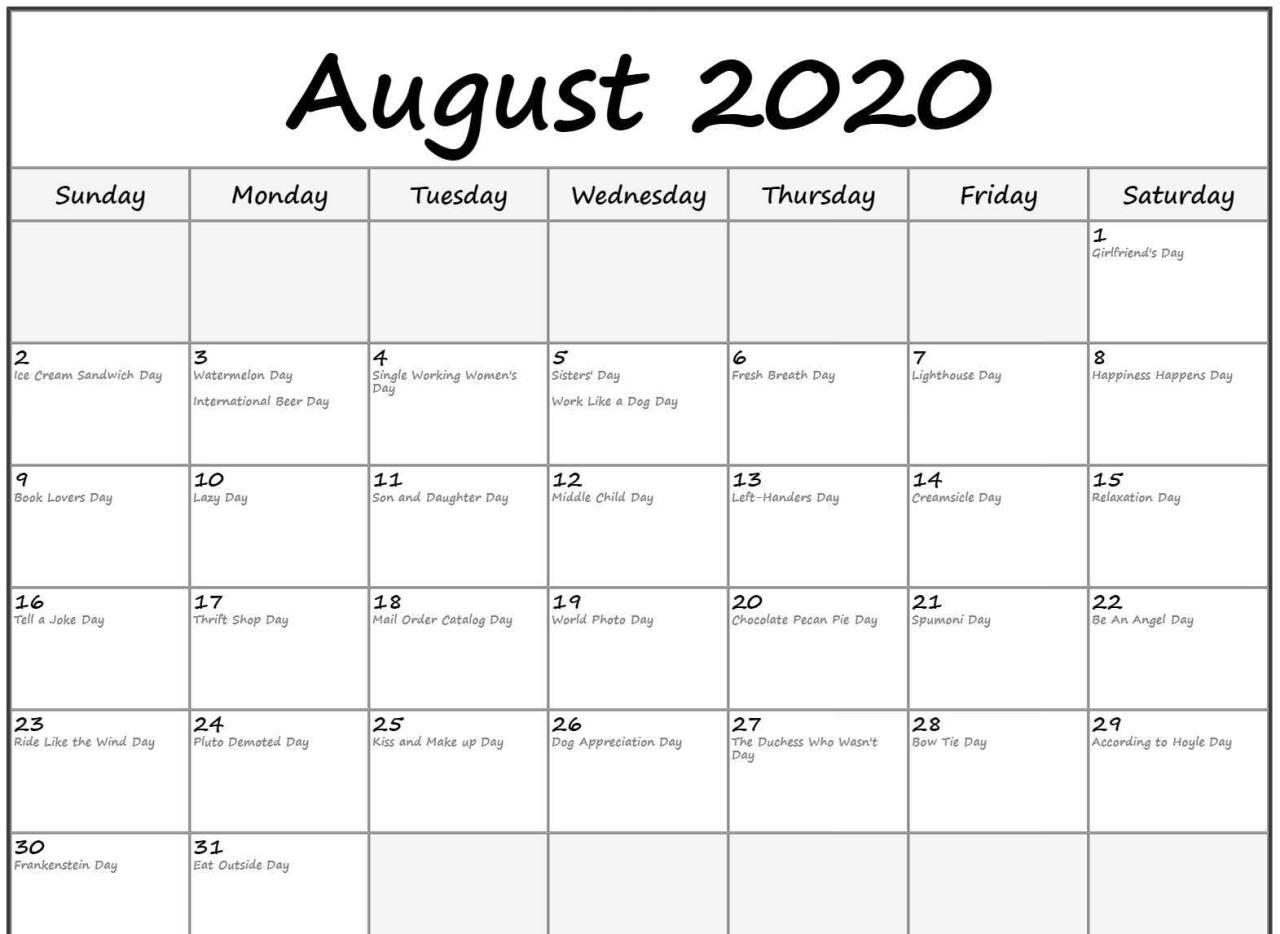 Printable Calendar & Template