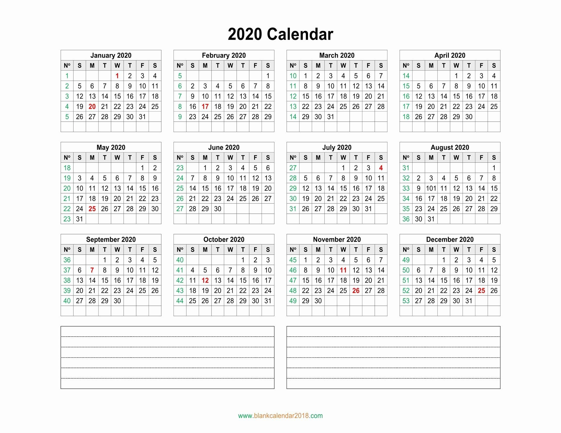Printable Calendar Without Weekends In 2020 | 2020 Calendar