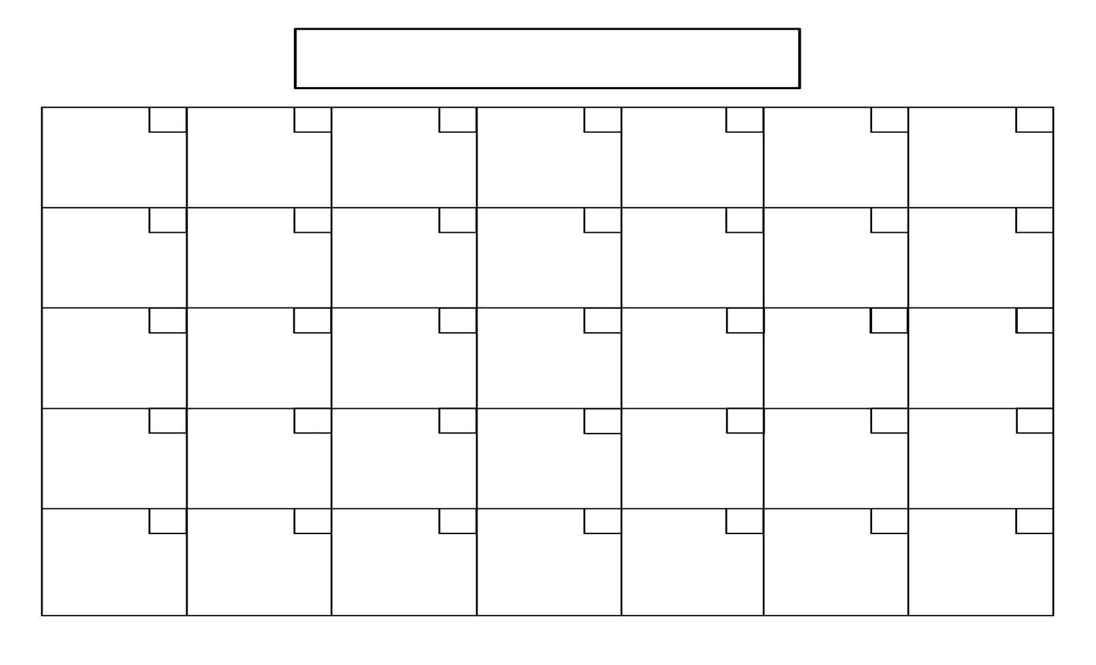 printable full page blank calendar template | blank calendar