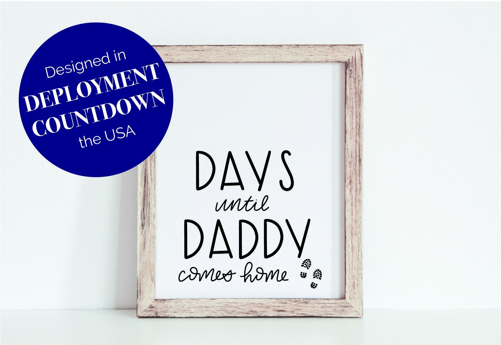 Printable Military Deployment Countdown Days Until Daddy