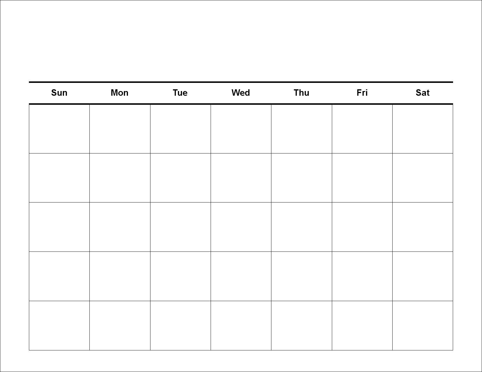 Printable Monthly Calendar Large Squares   Monthly Calendar