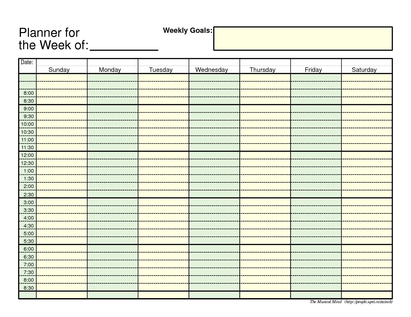Printable Weekly Planner Template | Weekly Planner Printable
