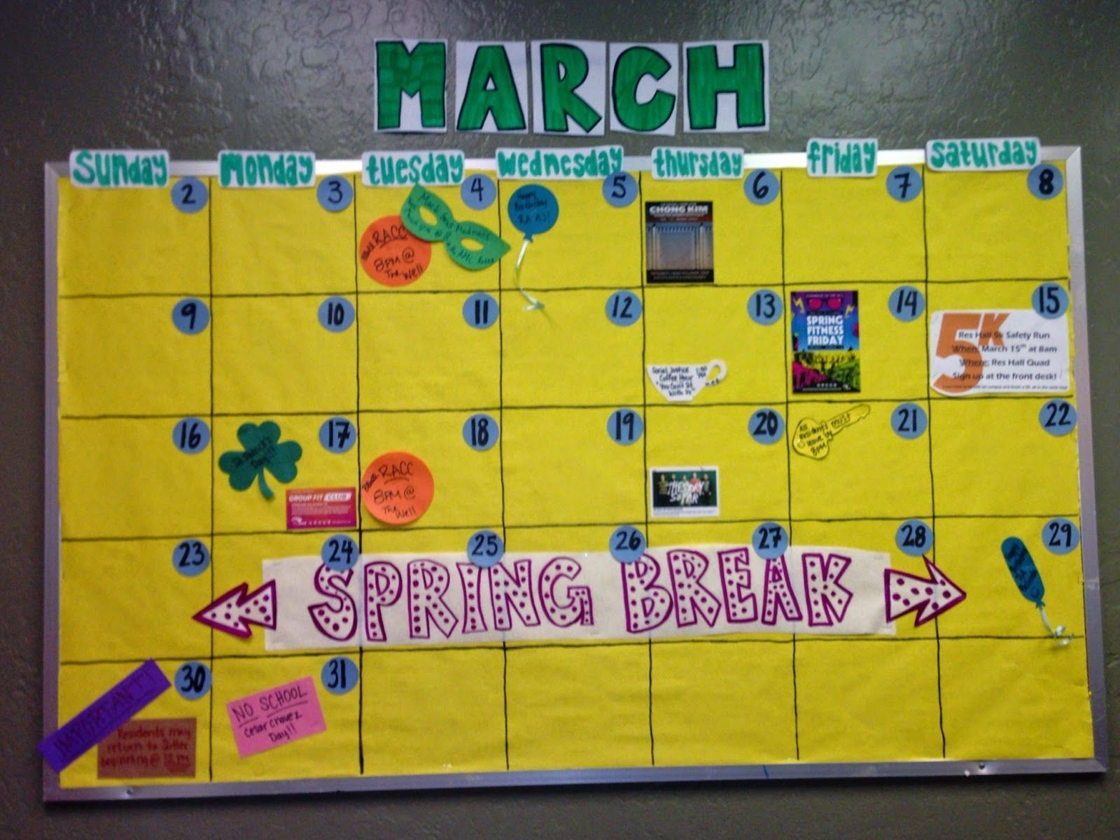 Quite Smashing Love: Additional Bulletin Boards! | Calendar