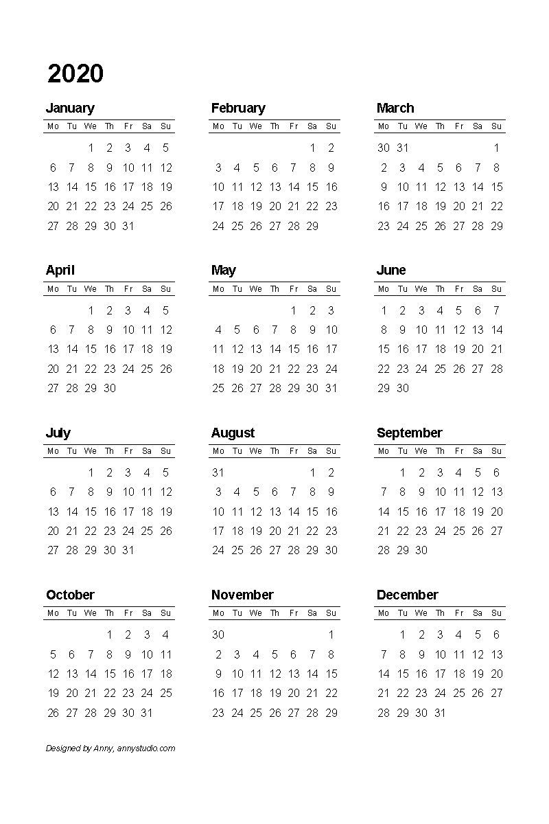 Remarkable 2020 Fiscal Year Calendar Trong 2020