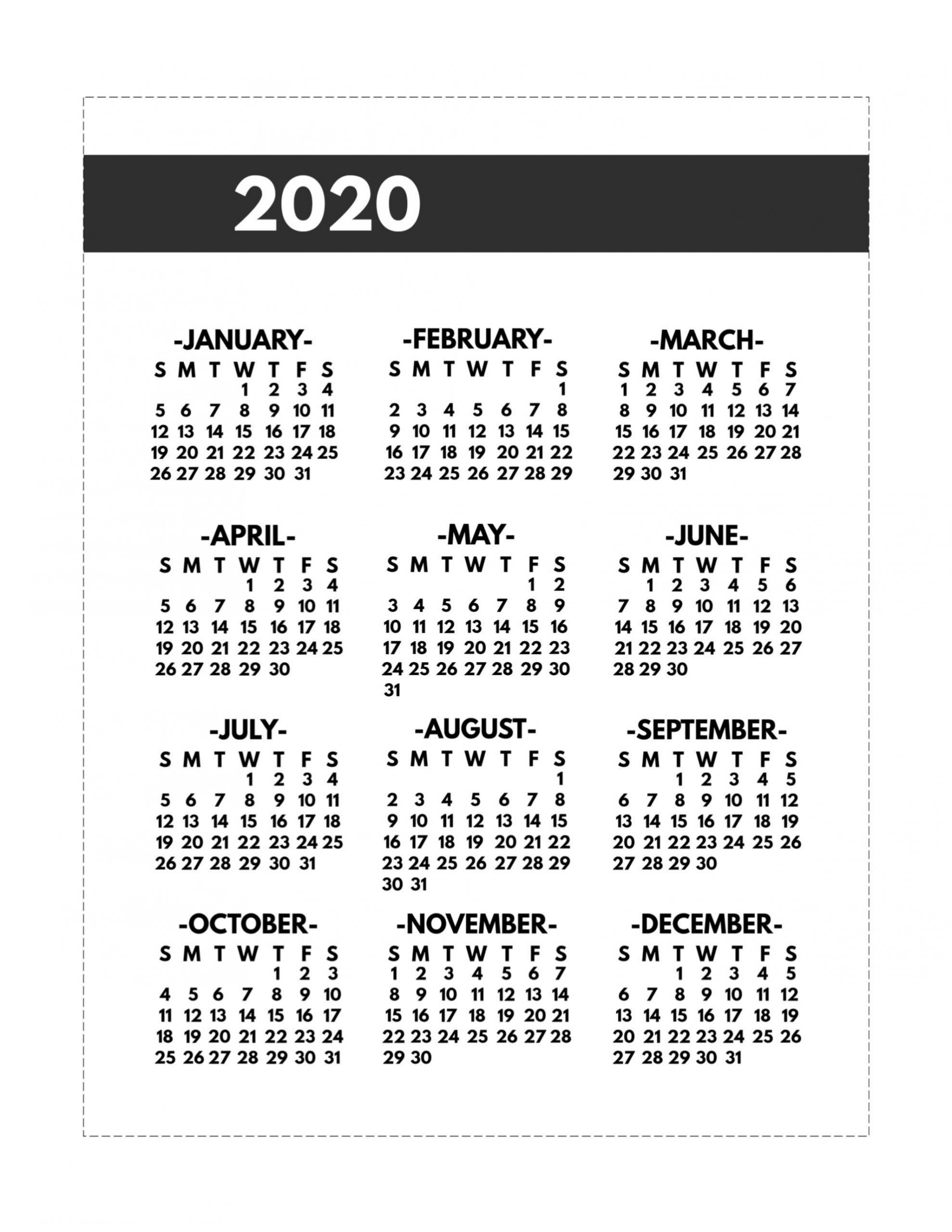 Remarkable Printable Calander 8 5 X 11 In 2020 | Calendar