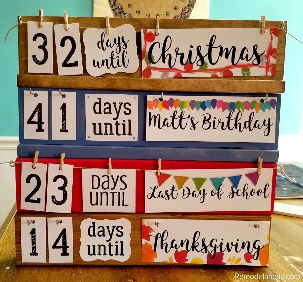 Remodelaholic | Easy Diy Holiday Countdown Board Printables