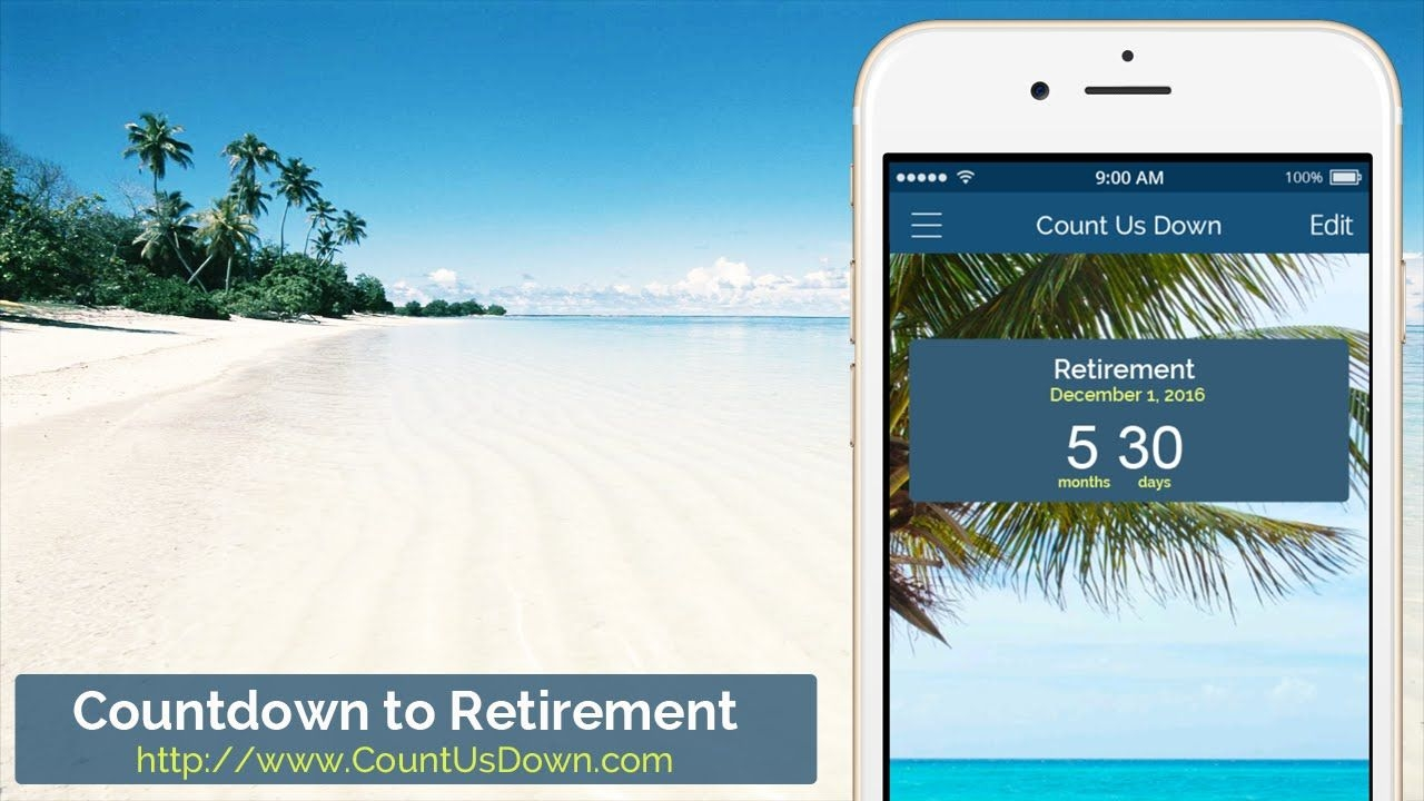 retirement countdown app to count down the days to retirement