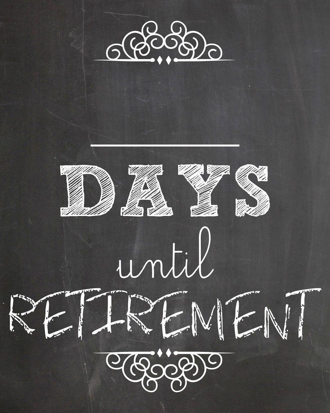 Retirement Countdown Calendar Ideas In 2020 | Retirement