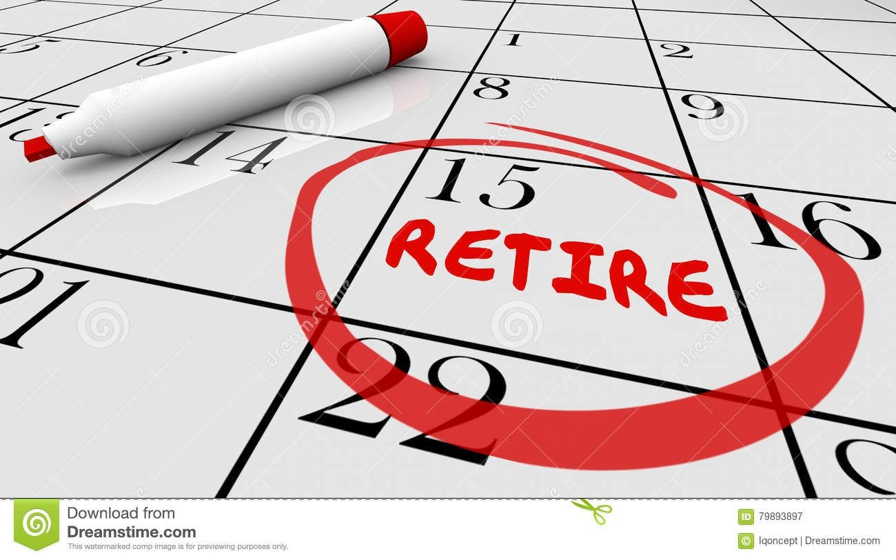 retirement day date circled calendar countdown stop working