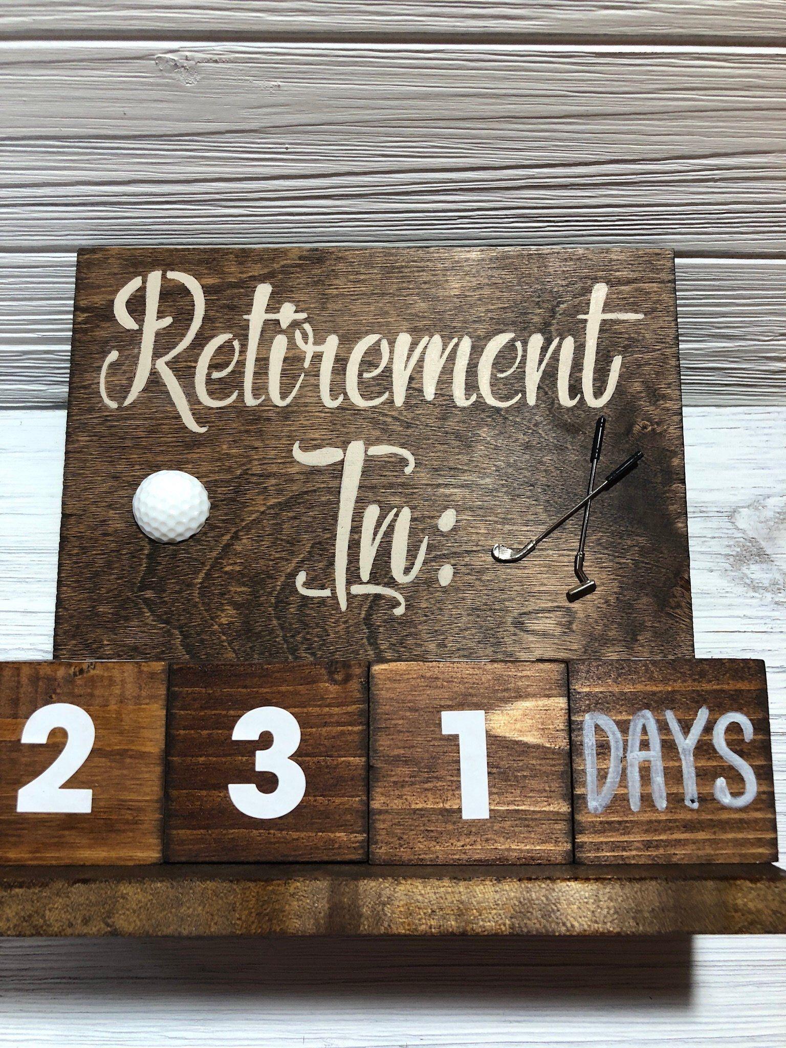 retirement gift countdown calendar golf gifts | etsy