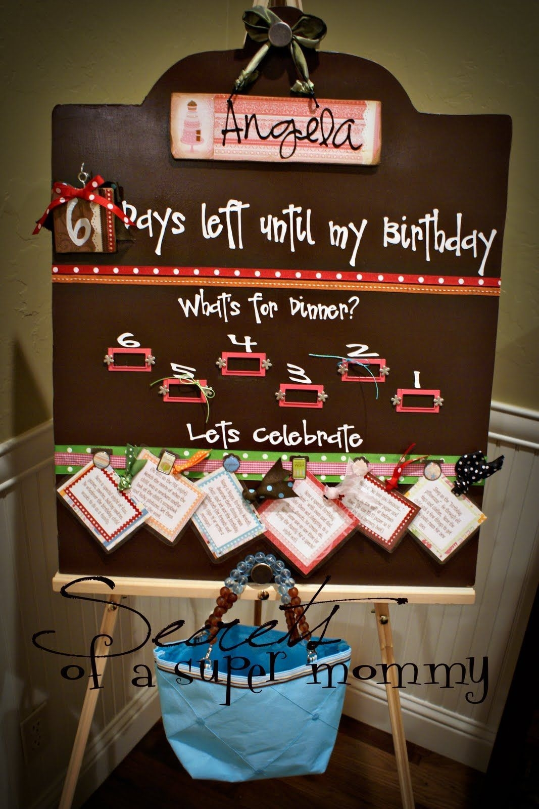 secrets of a super mommy: the birthday countdown board