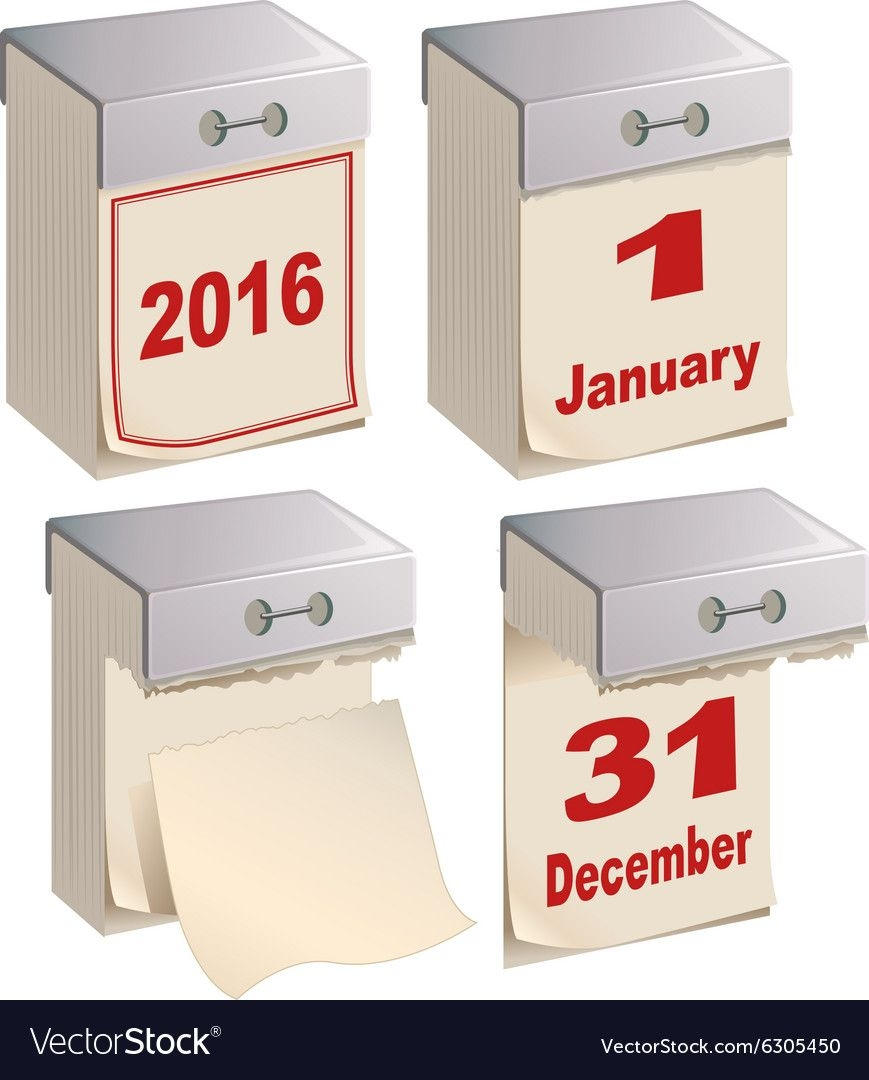 Set Tear Off Calendar Template
