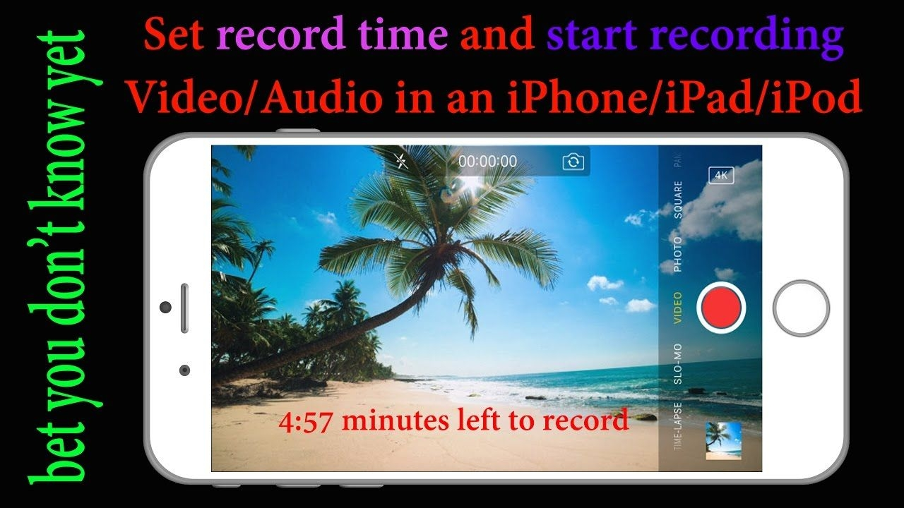 Set Timer And Record Audio/video On An Iphone/ipad/ipod