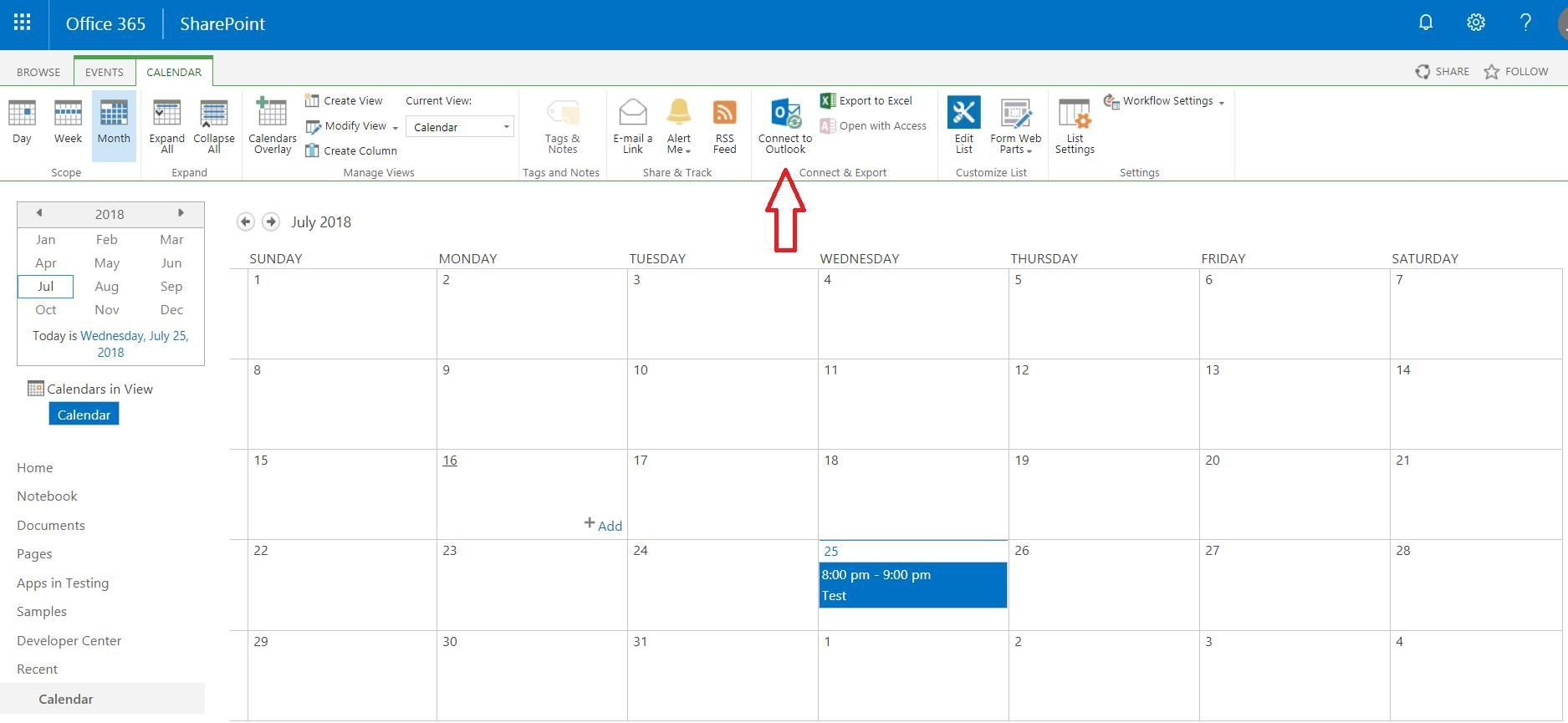 Sharepoint Calendar Outlook Sharepoint Calendar In Outlook