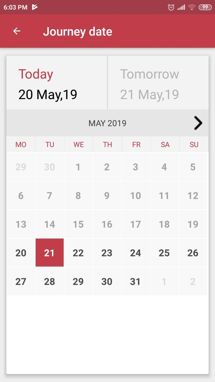 Show Calendar Dates Only From Today (no Need Of Showing
