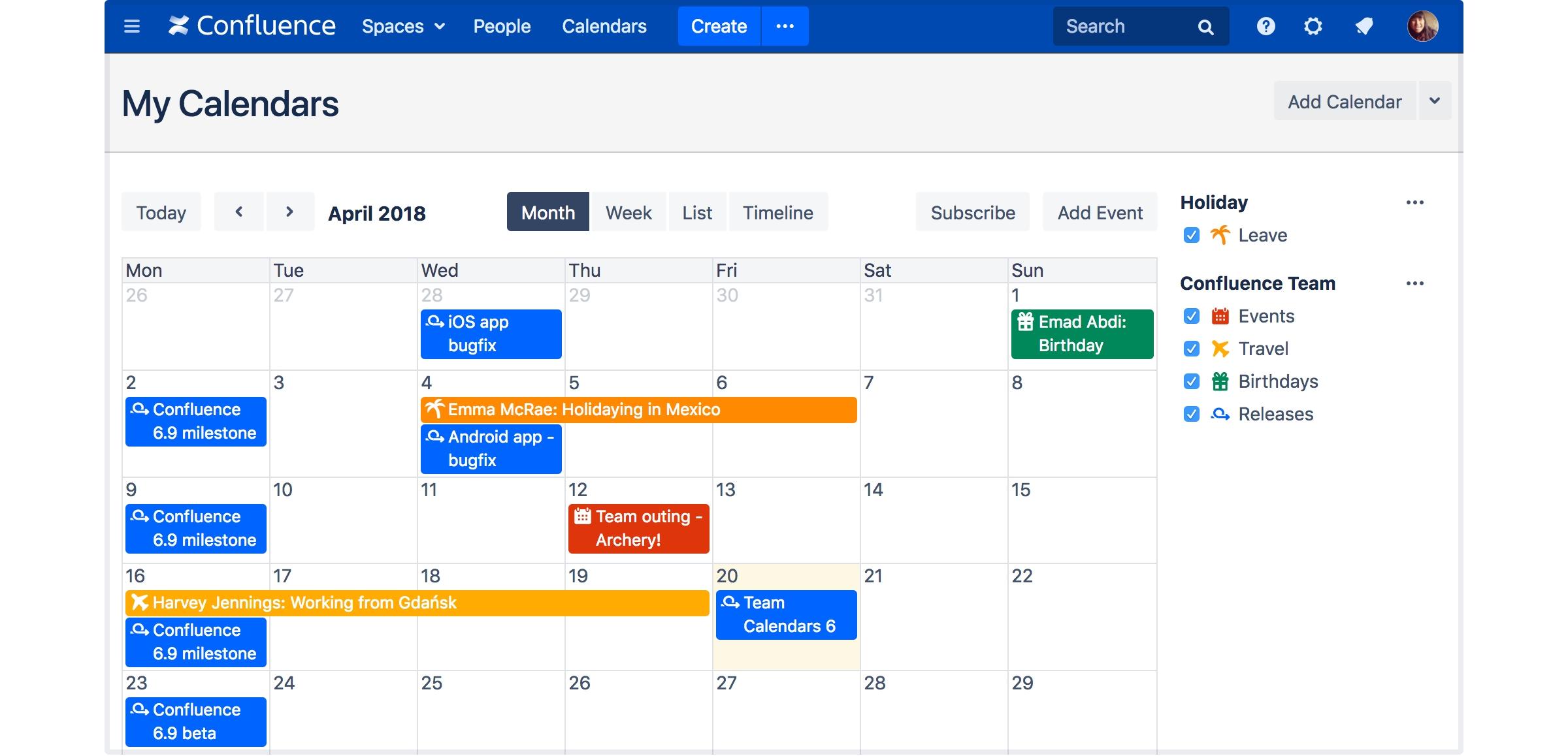 Solved: Team Calendar
