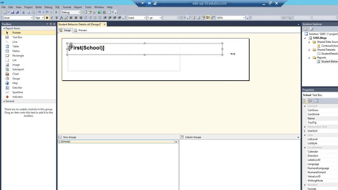 ssrs using a list item to display details