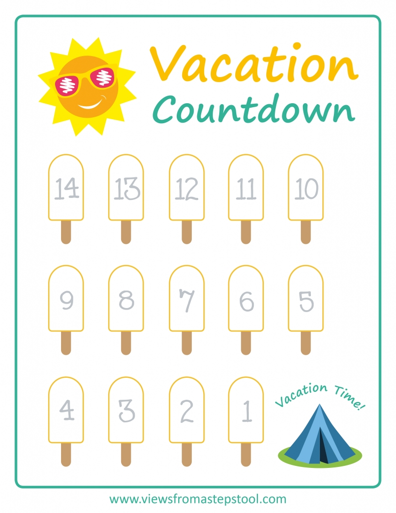 summer vacation countdown printables | vacation countdown