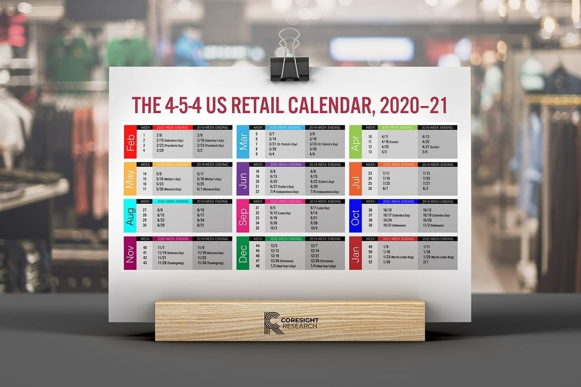the 4 5 4 us retail calendar, 2020–21 | coresight research
