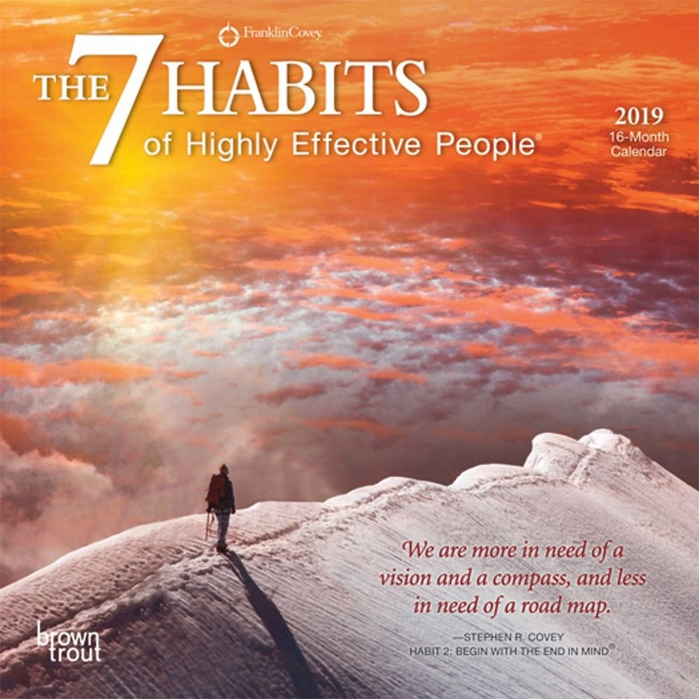 The 7 Habits Of Highly Effective People 2019 Mini Wall Calendar