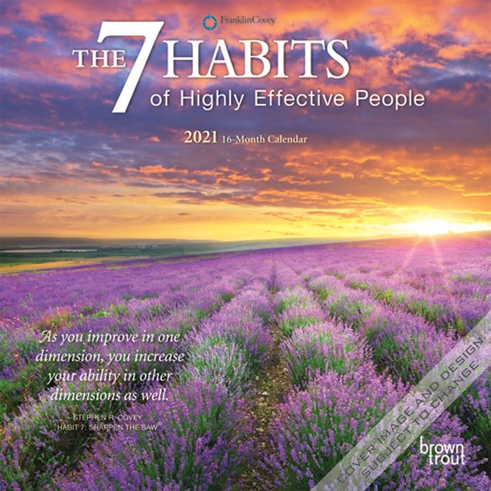 The 7 Habits Of Highly Effective People 2021 Mini Wall Calendar