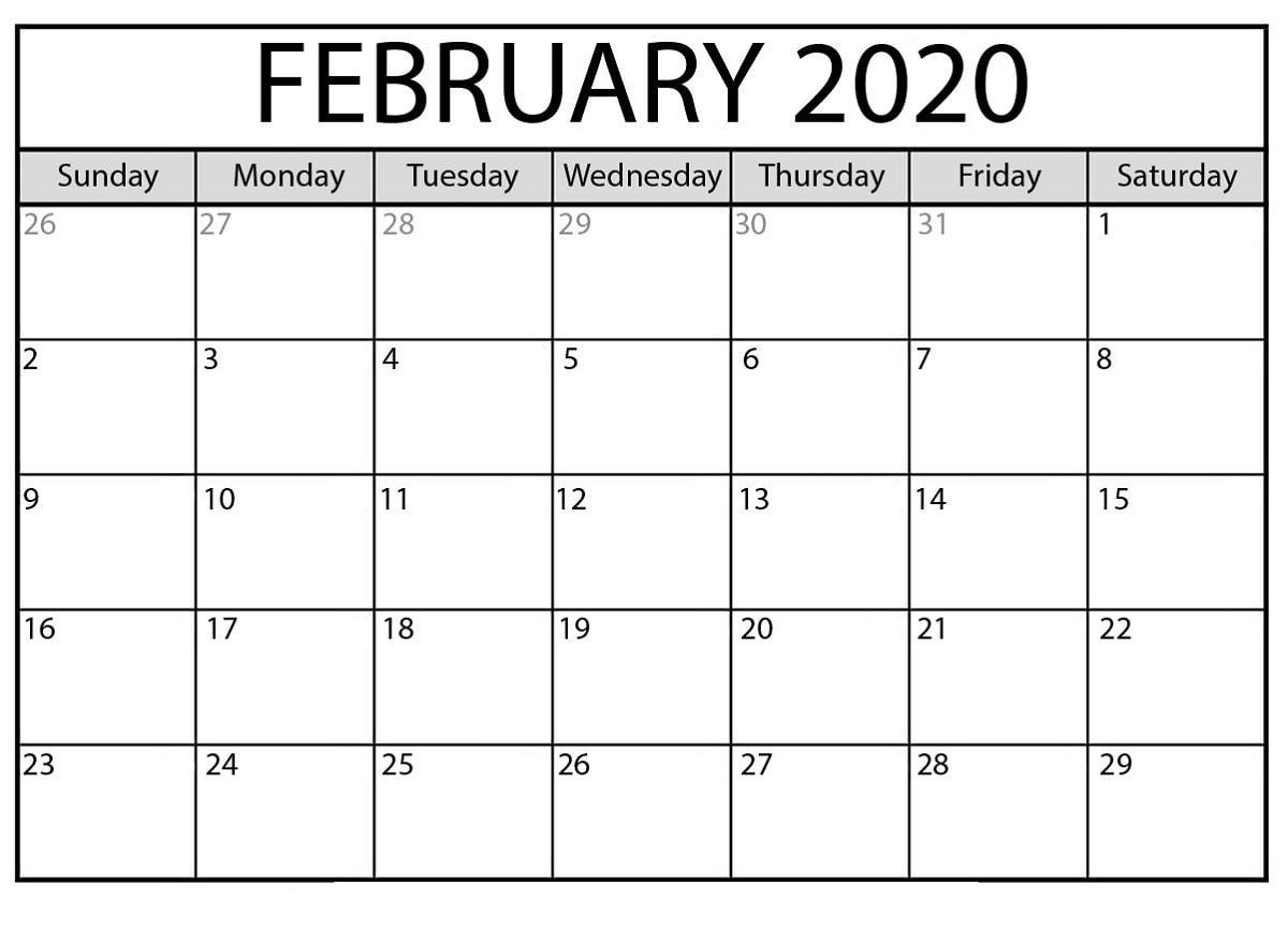The Outstanding Free Printable Calendar Templates 2020 For