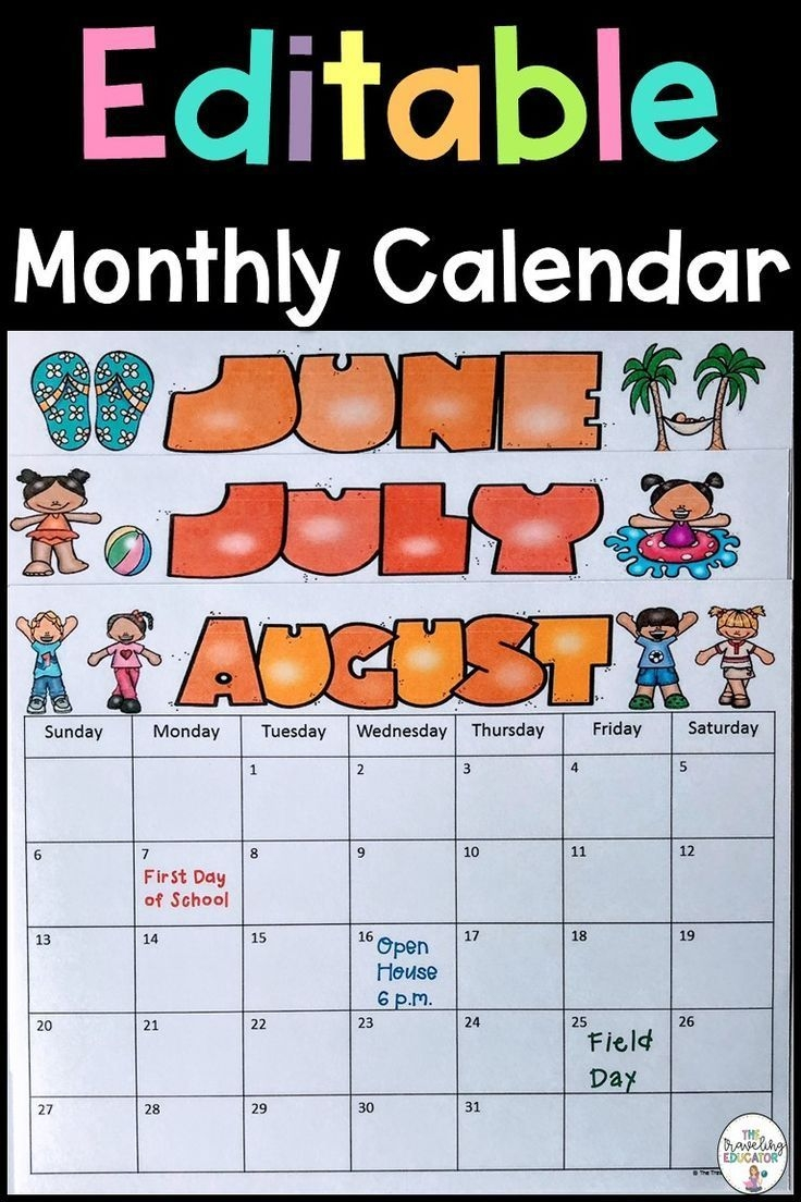 these monthly calendars make it easier for teachers to stay