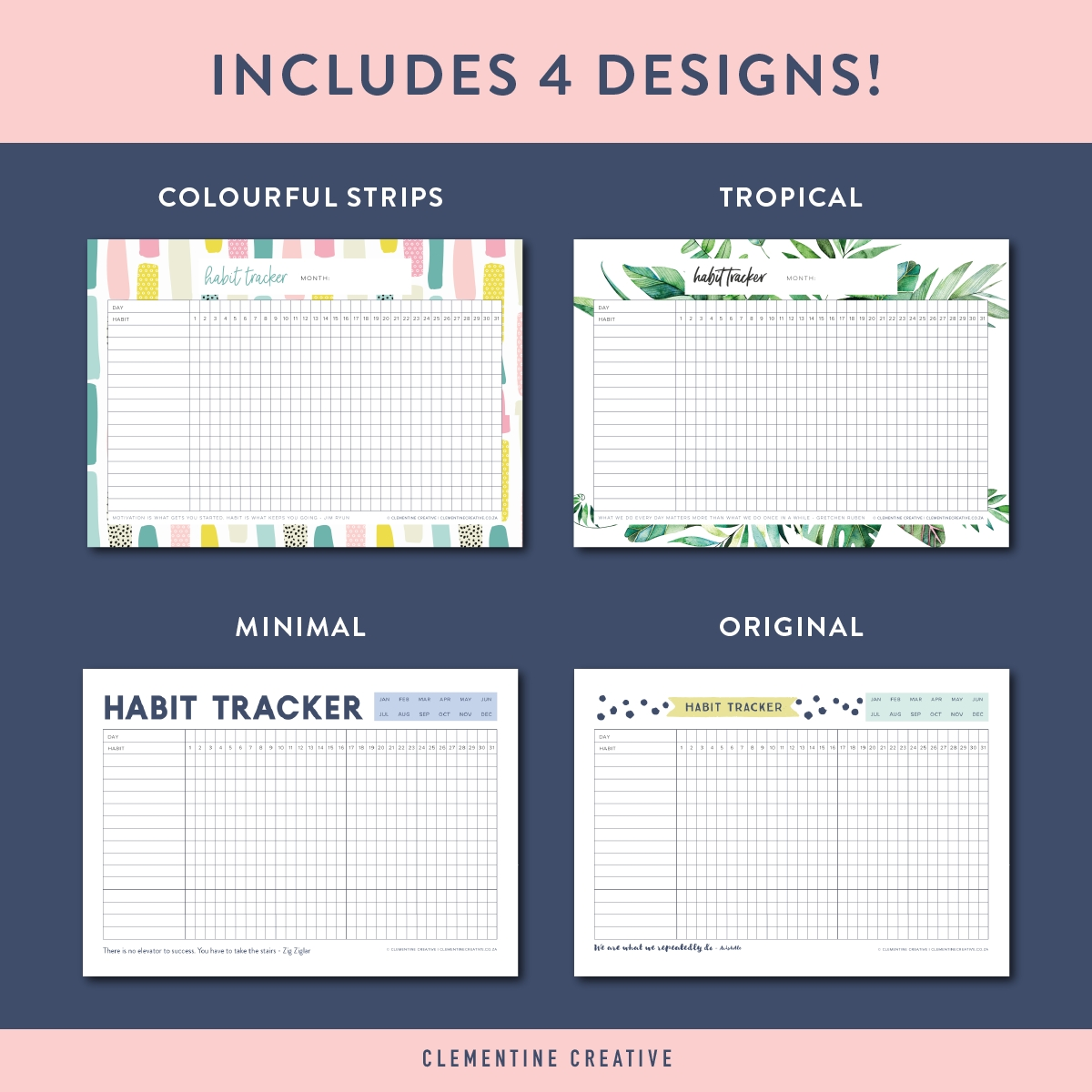 this free printable habit tracker will help you reach your goals