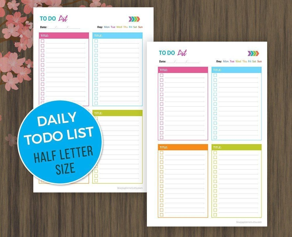 To Do List #printable, #planner Printable, #notebook, Daily