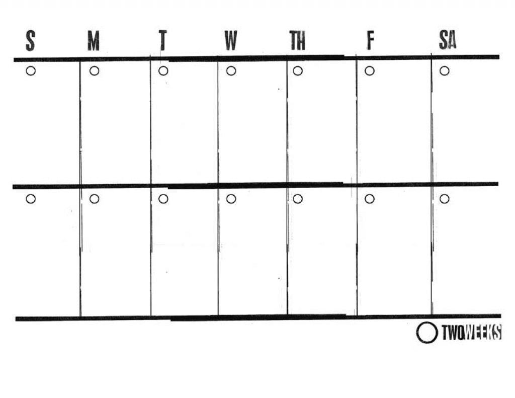Top Printable Two Week Calendar | Lauren Blog