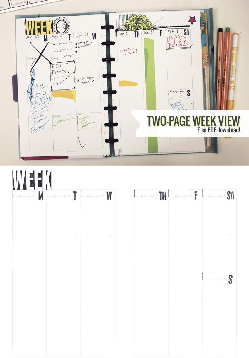 two page week, 5 5 x 8 5 – diy planner template ⋆ amanda
