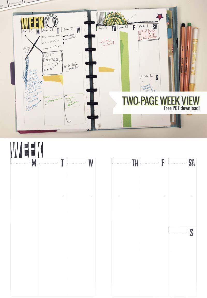 Two Page Week, 5 5 X 8 5 – Diy Planner Template ⋆ Amanda
