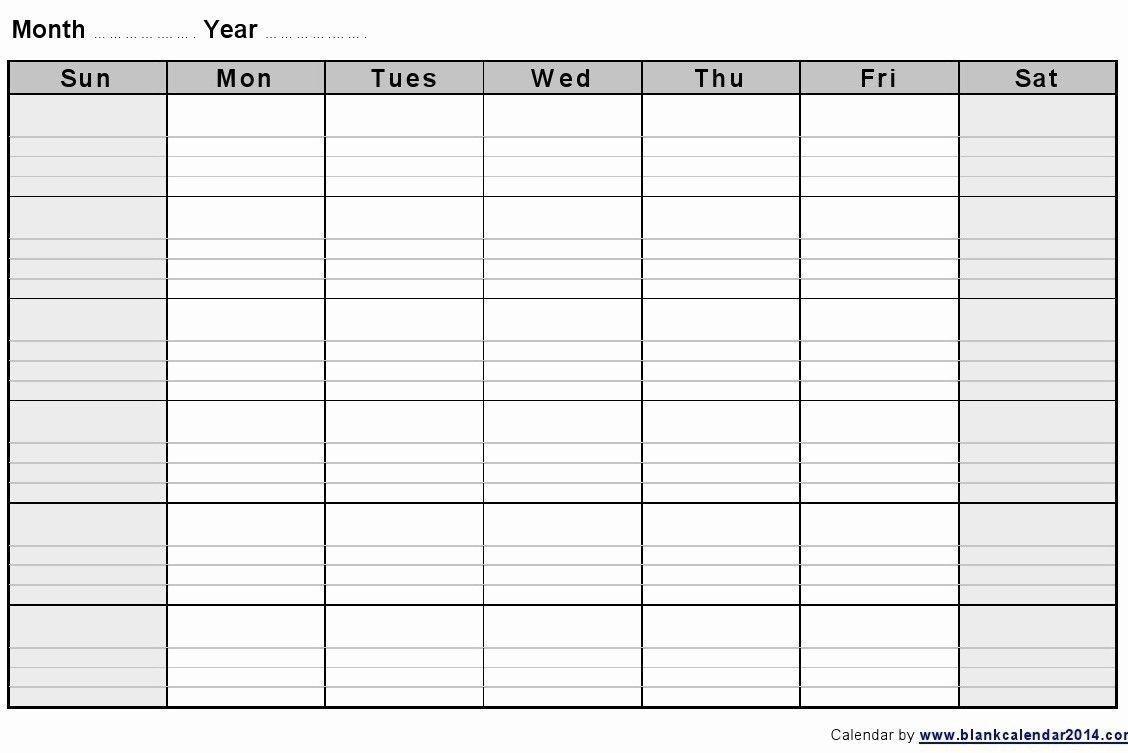 Universal Blank 2 Week Calendar In 2020 | Blank Monthly