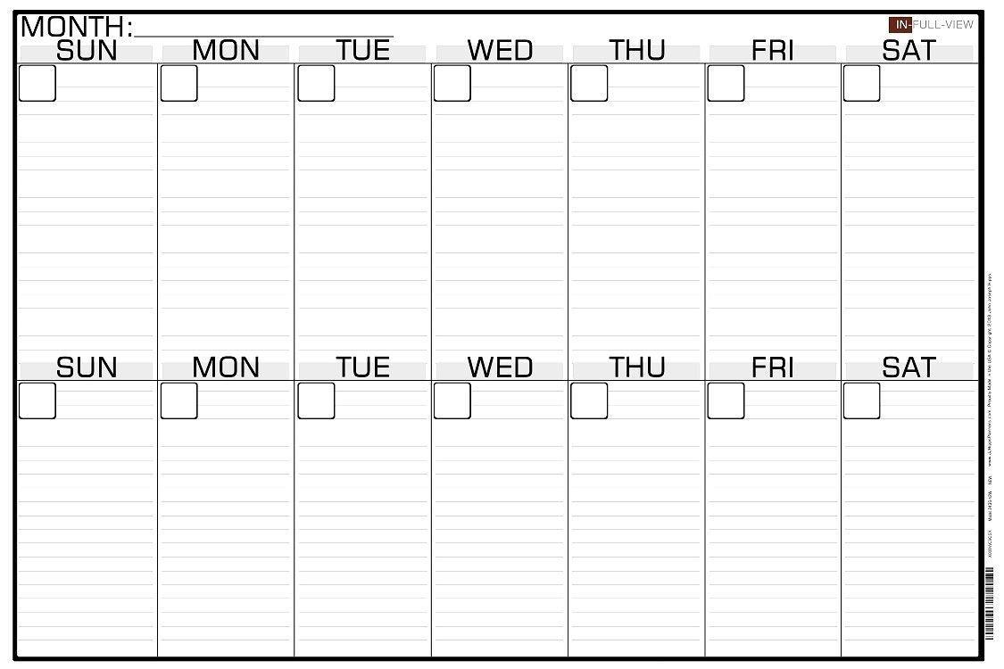 Universal Blank 2 Week Calendar In 2020   Printable Calendar