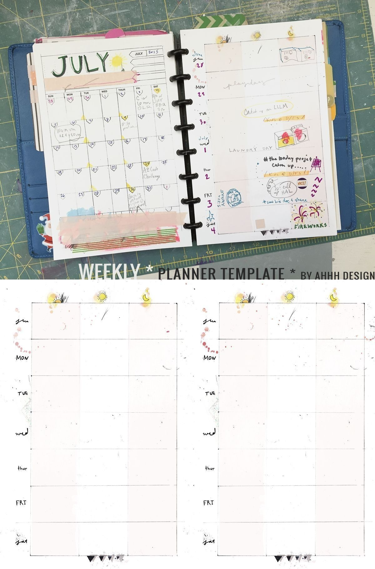 Universal Daily Planner Printable Editable Free 8 5 X 5 5 In