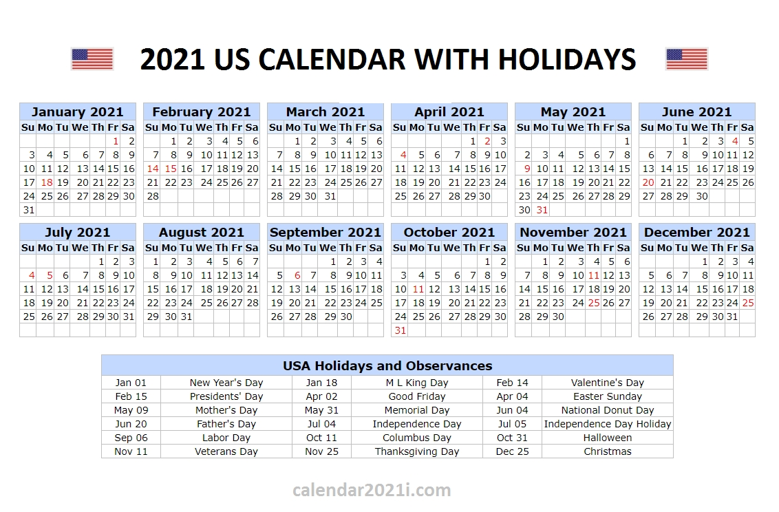 Us 2021 Holidays Calendar In 2020 | Holiday Words, Holiday