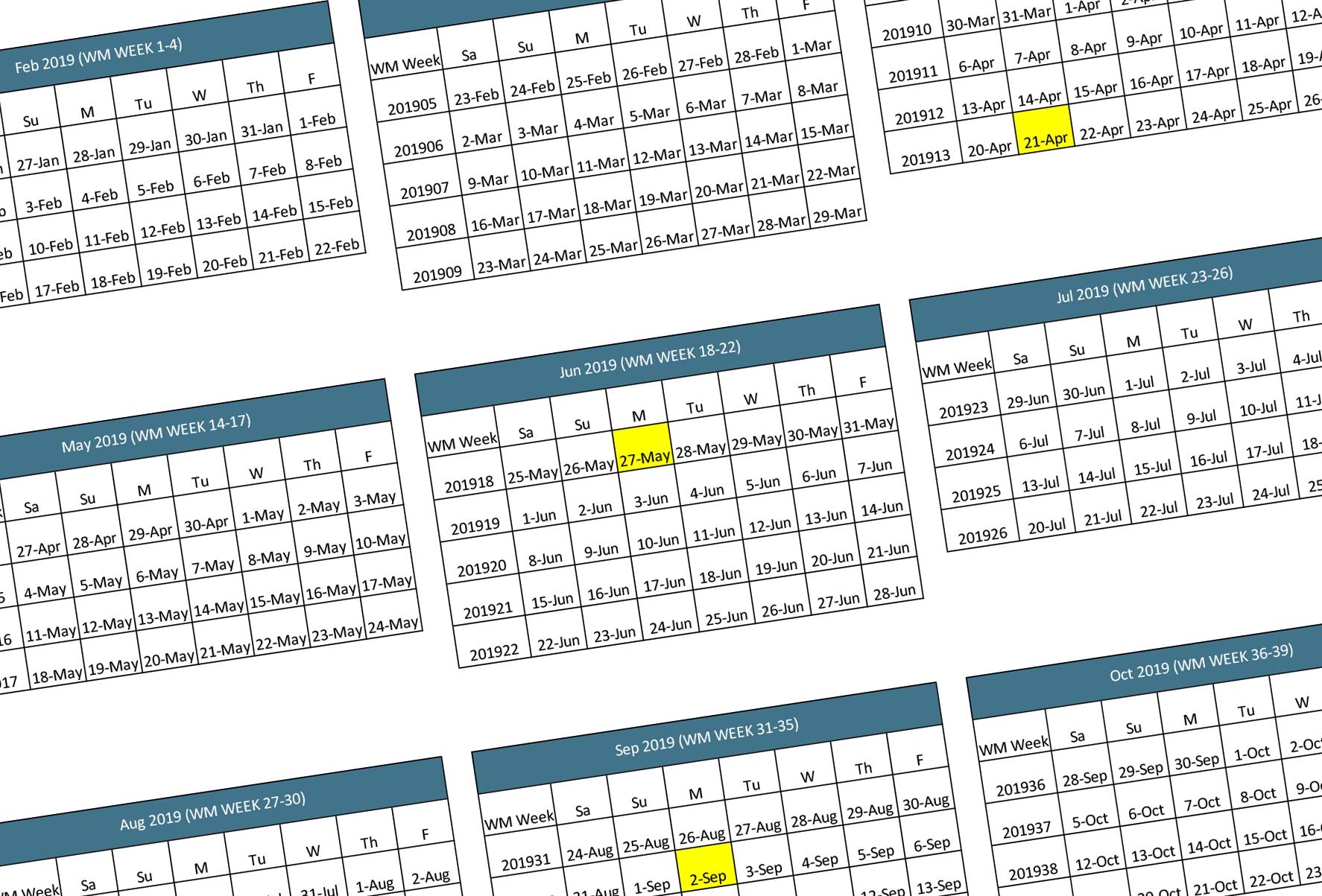 walmart 2019 2020 fiscal calendar | walmart supplier news