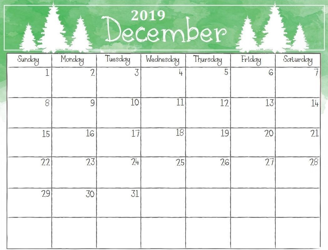 watercolor december 2019 calendar #december #december2019