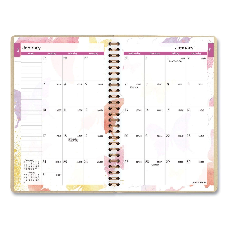 Watercolors Weekly/monthly Planner, 8 5 X 5 5, Watercolors