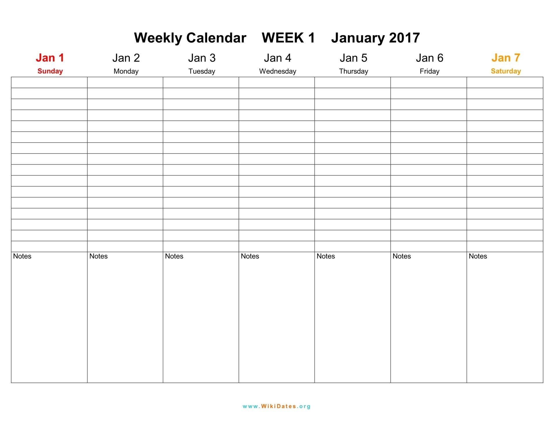 Weekly Calendar Download Weekly Calendar 2017 And 2018