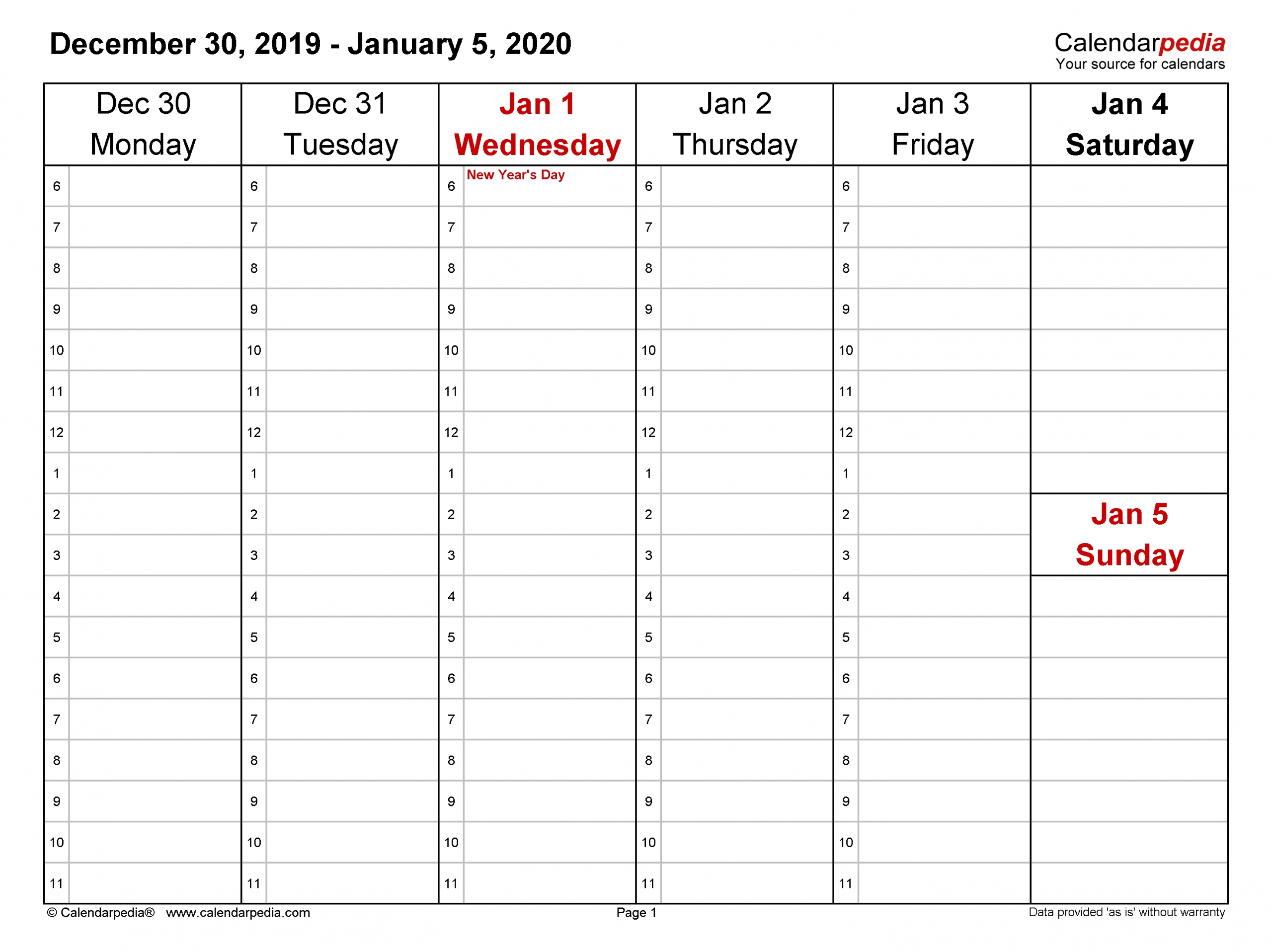 weekly calendars 2020 for word 12 free printable templates