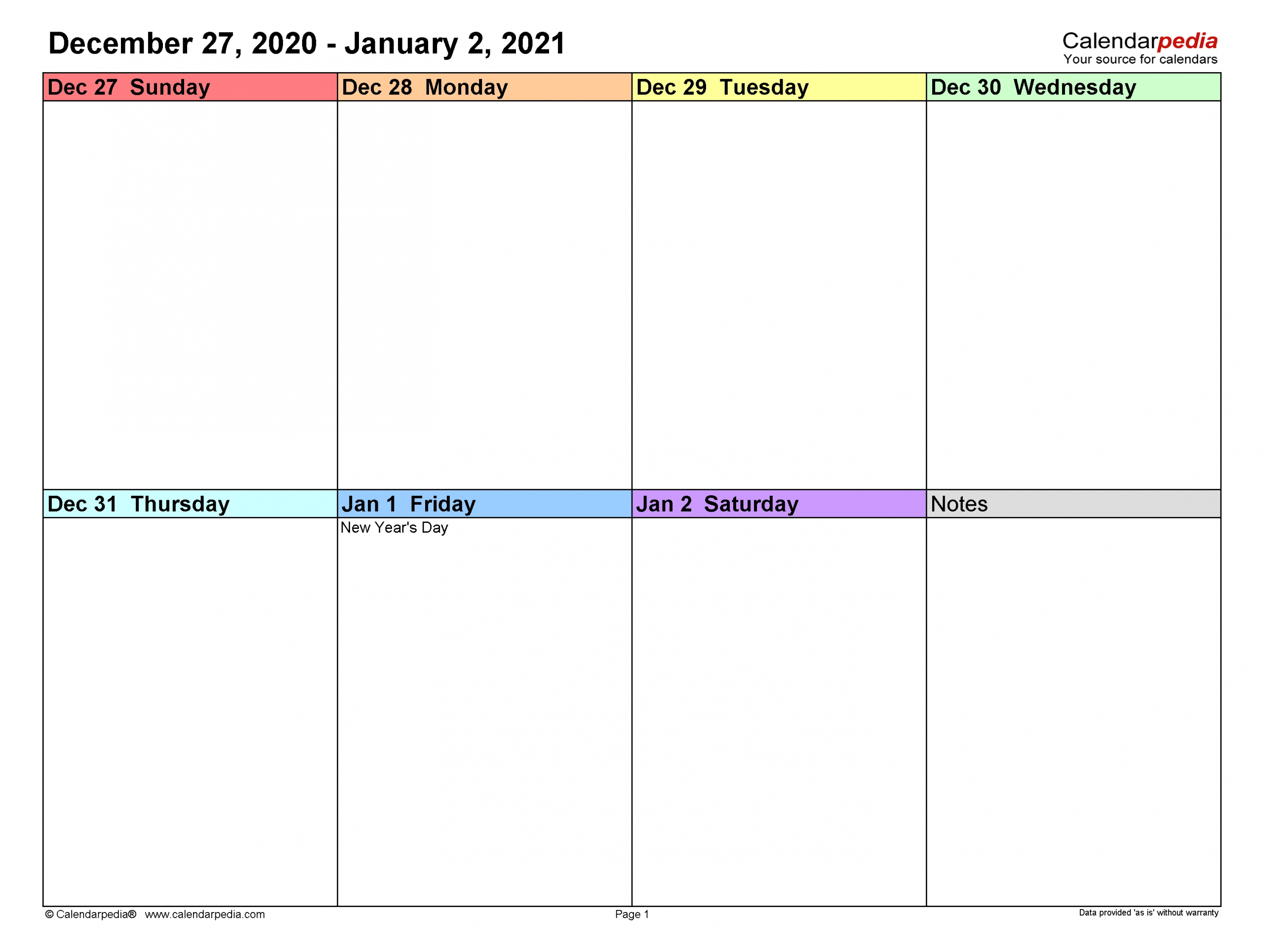 weekly calendars 2021 for excel 12 free printable templates