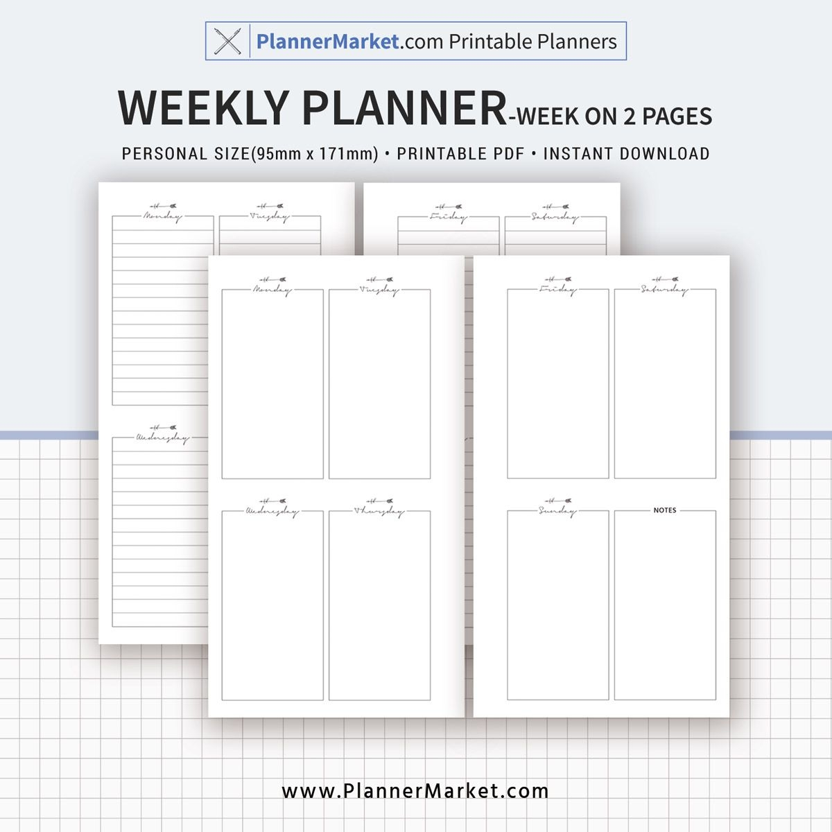weekly planner, weekly schedule, weekly agenda, week on 2