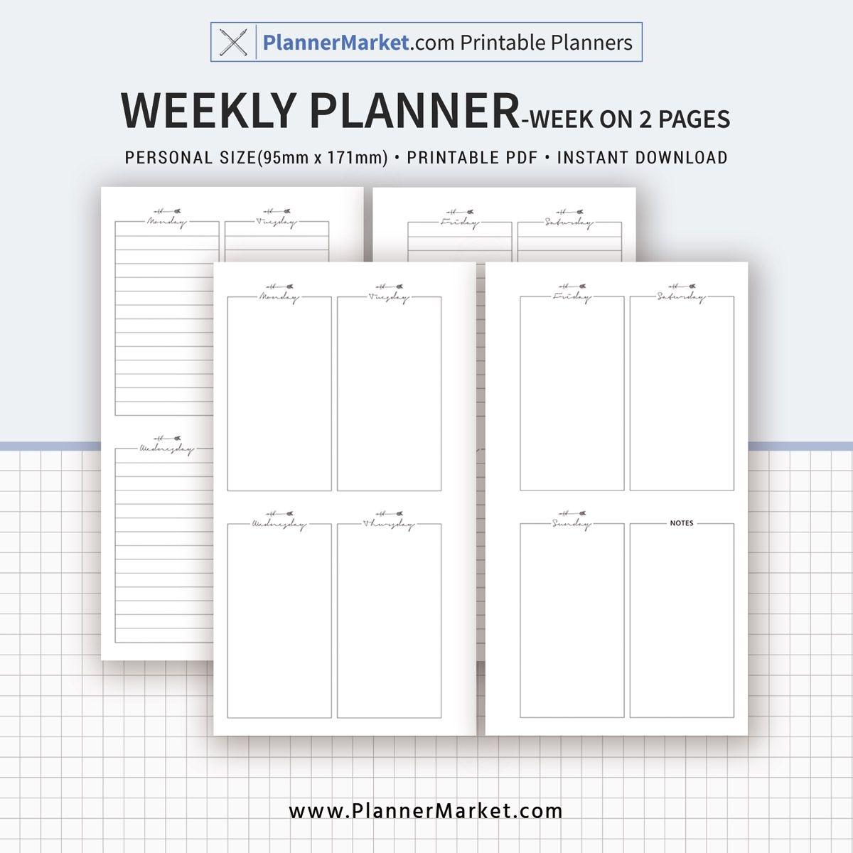 weekly planner, weekly schedule, weekly agenda, week on 2