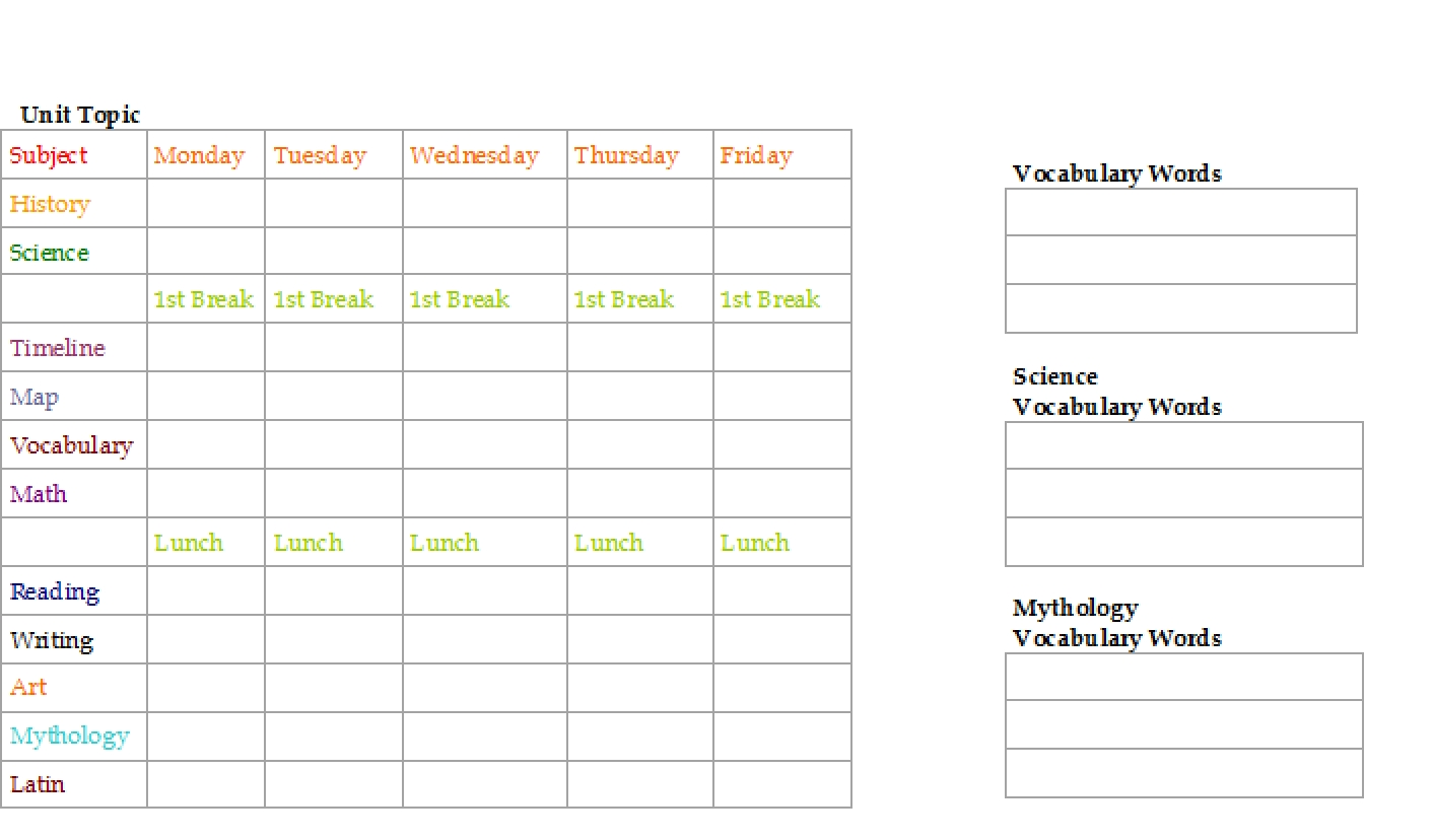weekly schedule grid template ten easy ways to facilitate