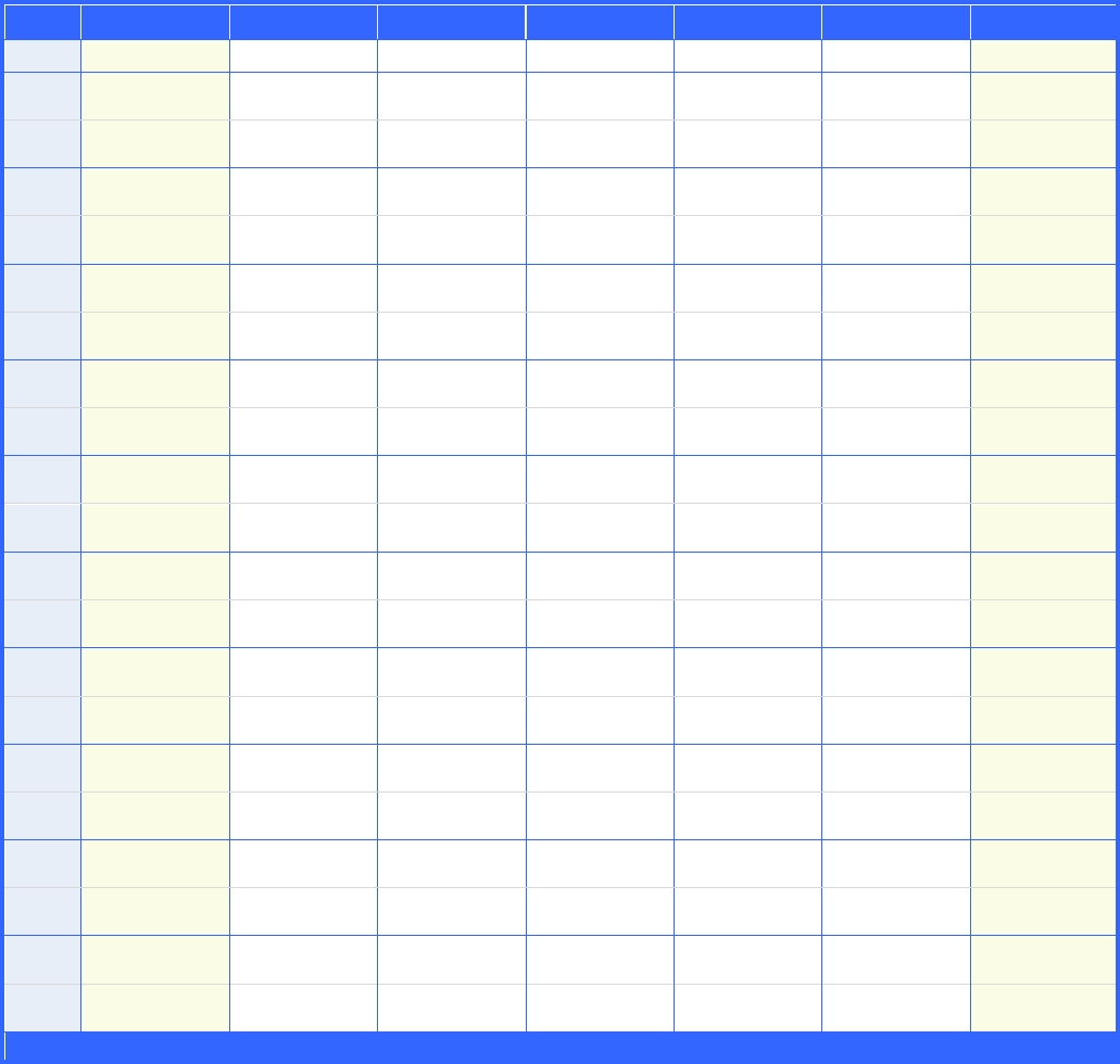 Weekly Schedule Template With 30 Minutes Increment In Word