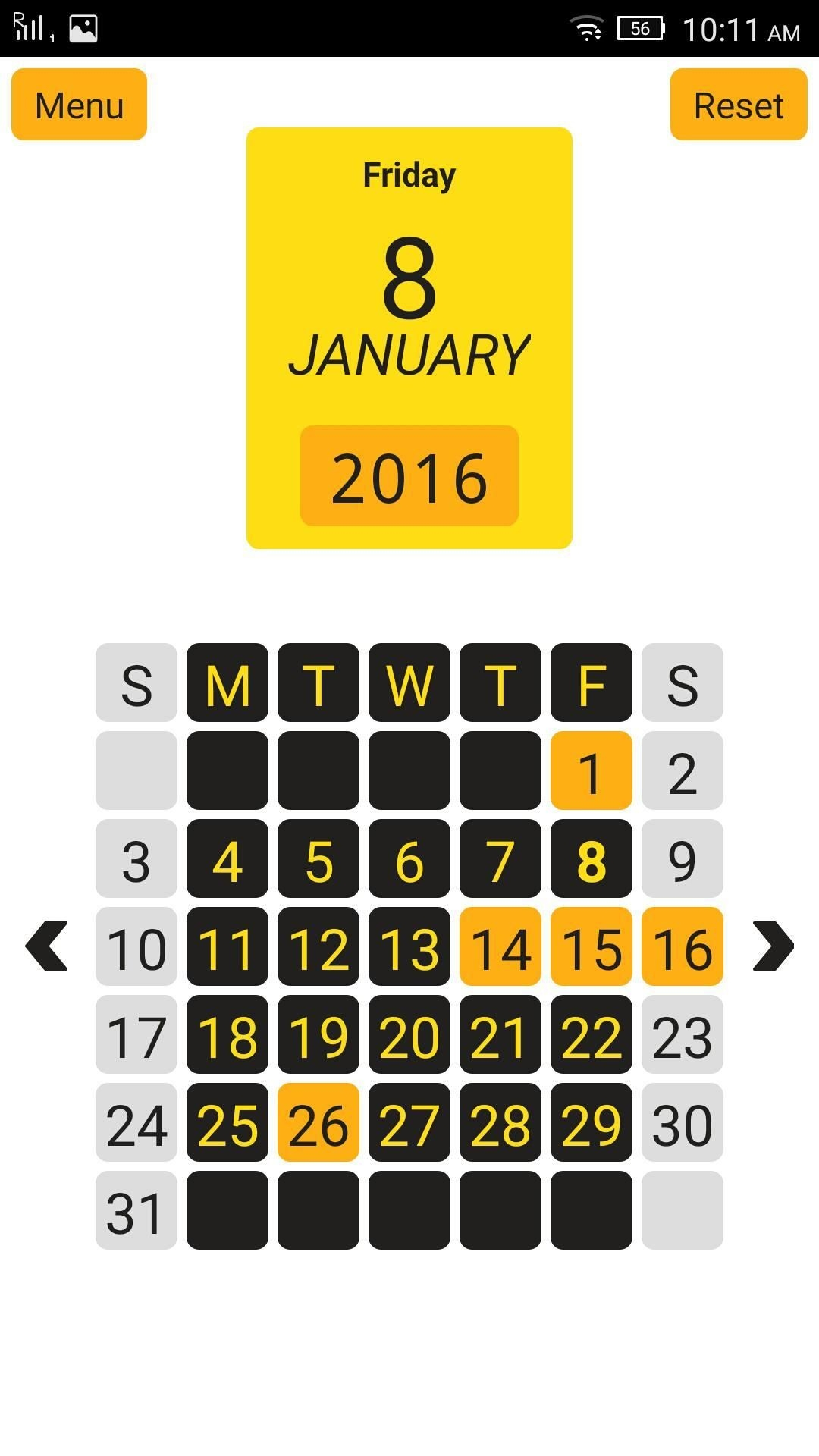 year view 12 month calendar for android apk download