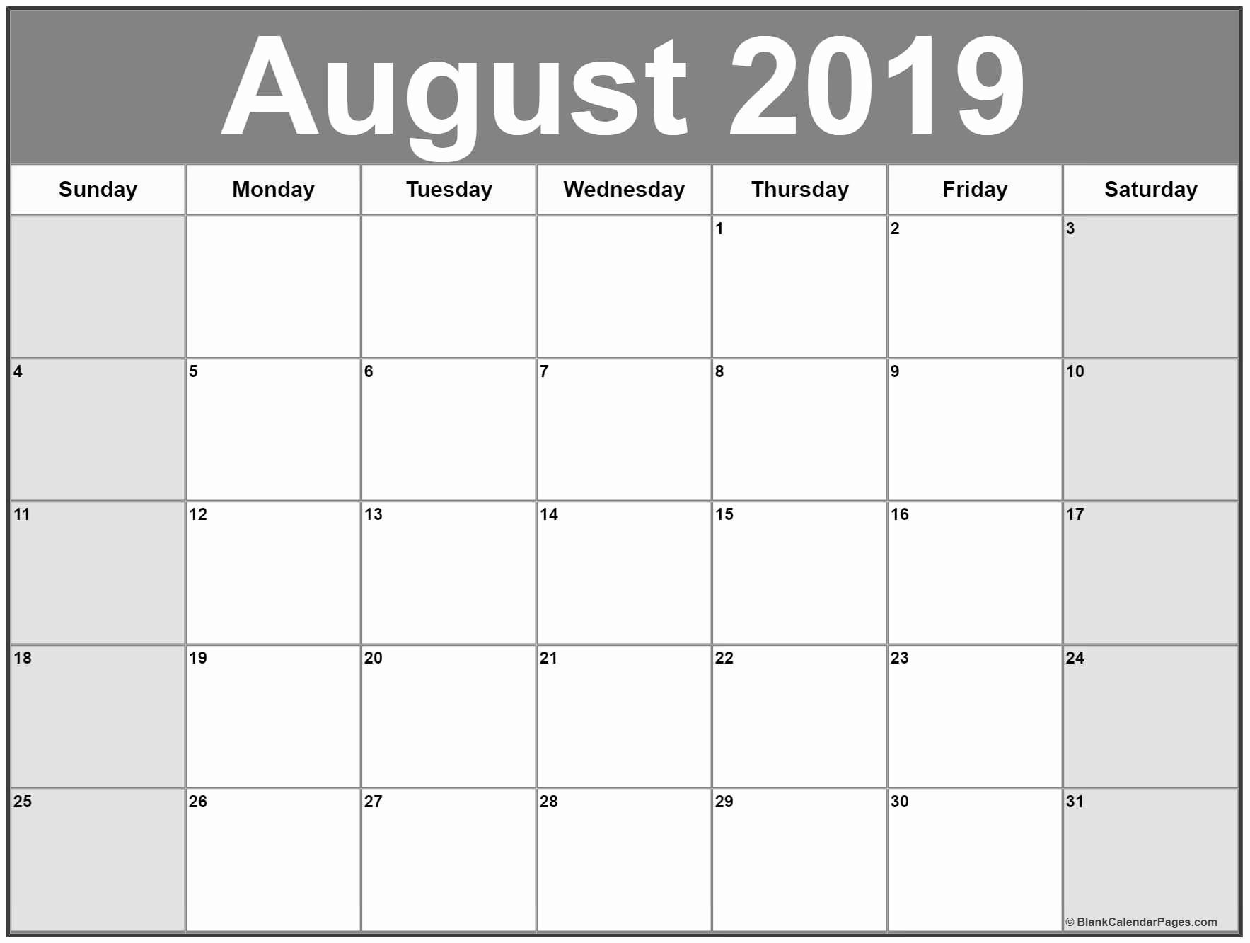 you can get here august 2019 calendar template blank word